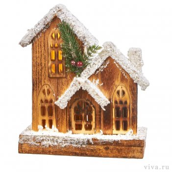 Композиция «зимняя деревня» с  led подсветкой.