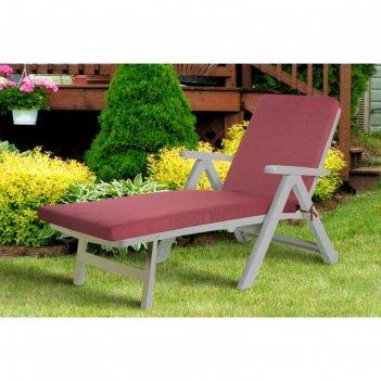 Подушка-сидушка для шезлонга linen way, цвет малиновый