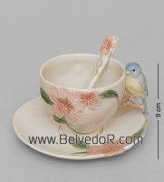 Cms-54/ 1 чайная пара голубая птица счастья (pavone)