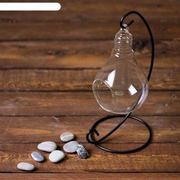 Флорариум подвесной на подставке лампочка