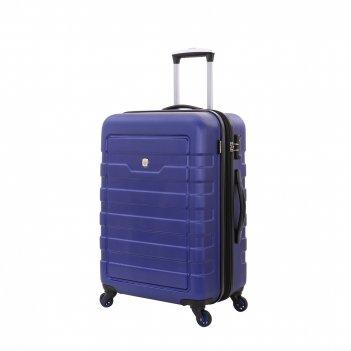 Чемодан wenger tresa, синий, абс-пластик, 46x27x66 см, 66 л