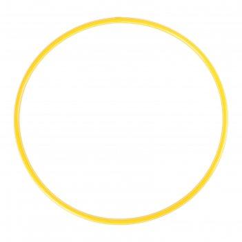 Обруч диаметр 60 см, цвет жёлтый