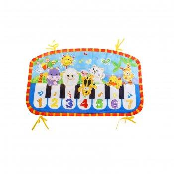 Коврик музыкальный пианино (изучаем животных, познаём цвета, учим цифры, м
