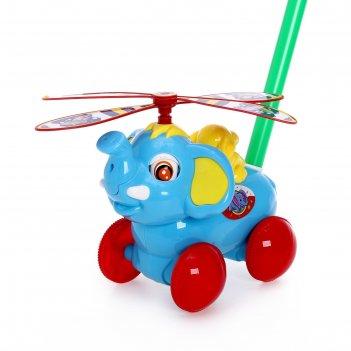 Каталка на палке слоник, цвета микс