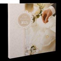Фотоальбом магнитный 15 листов свадебный кольца на подушечке 34х33х4,3 см