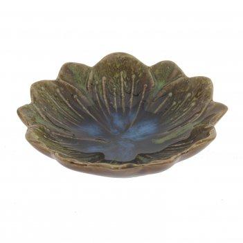 Блюдо декоративное цветок, l11 w11 h2,5 см