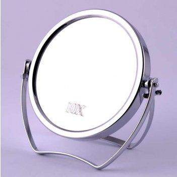 Зеркало tsam 69 настольное металл. 2-х сторон. 10-ти кр. уве