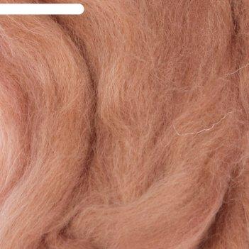 Шерсть для валяния 100% полутонкая шерсть 50гр (270 мокрый песок)