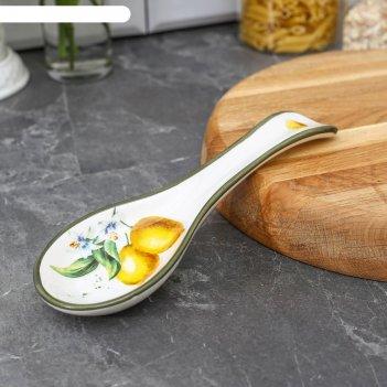 Подставка под ложку лимон 22,3x7,1x2,7 см