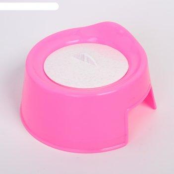 Горшок с крышкой, цвет розовый