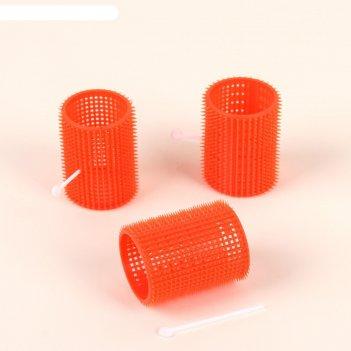 Бигуди пластиковые с фиксатором d4,4*6,2см набор 3шт  qf