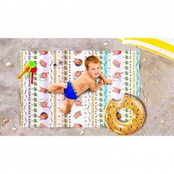 Пляжное покрывало «отпуск», размер 90 x 140 см