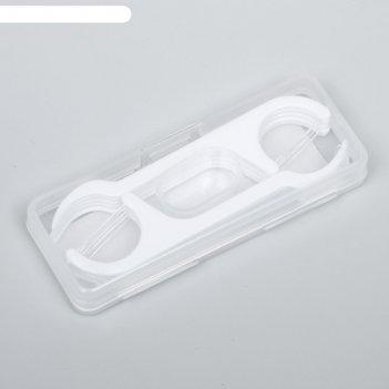 Зубная нить в пластиковом держателе, набор 10шт