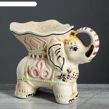 Ваза для конфет слон ангоб, микс