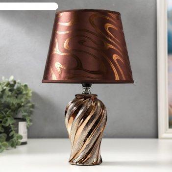 Лампа настольная 16268/1gd е14 40вт золото 20х20х33 см
