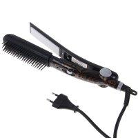 Выпрямитель-расческа для волос zimber zm-10905, мощность 45 вт, керамическ