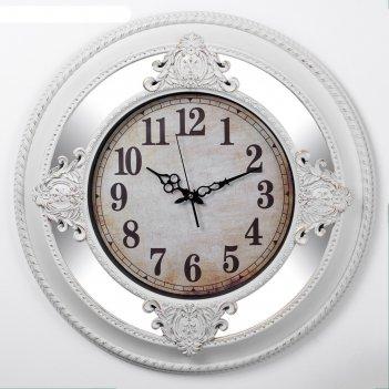 Часы настенные, серия: интерьер, картуш, 63х63 см