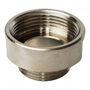 Переходник stout sft-0008-001141, никелированный, внутренняя/наружная резь
