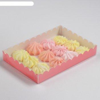 Коробочка для печенья, персиковый, 22 х 15 х 3 см