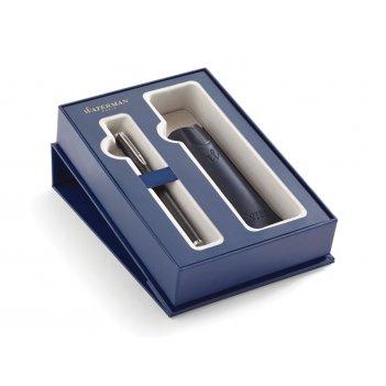 Подарочный набор waterman: перьевая ручка waterman hemisphere mblk ct с че