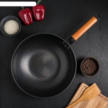 Сковорода-wok 32 см жаклин деревян ручка