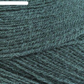 Пряжа lanagold 800 49% шерсть, 51% акрил 800м/100гр (426 т. зеленый)
