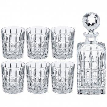 Набор для виски diplomat 7 пр.: штоф+6 стаканов 700/300мл. высота=20/9,5см