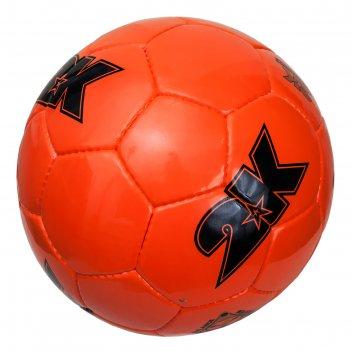 Мяч футбольный 2k sport merkury, neon-orange/black, размер 5
