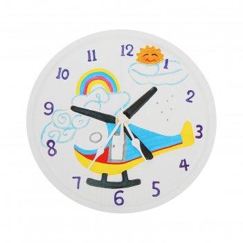 Роспись по гипсу, серия создай часы вертолет, краски 8 цветов по 2 мл
