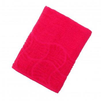 Полотенце махровое волна, размер 70х130 см, 300 гр/м2, цвет малина