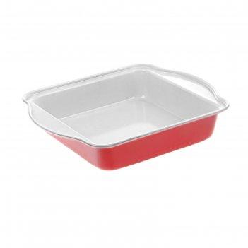 Форма для выпечки с керамическим покрытием 27х22х4,5 см кекс, цвета микс