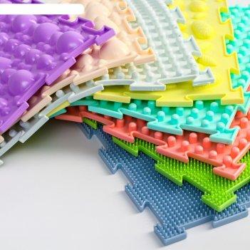 Модульный коврик орто набор универсал пастель(камни-2, трава-2, шипы-1, ел