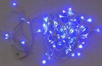 Гирлянда эл. 100 led, синее свечение, белый провод, 8 реж.