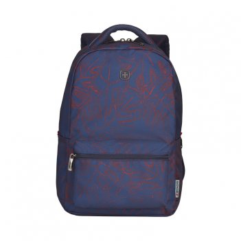 Рюкзак wenger 16'', синий с рисунком, полиэстер, 36 x 25 x 45 см