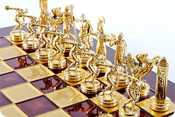 Шахматы оригинальные сувенирные  олимпийские игры  (mp-s-7-c-36-r)