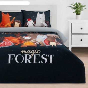 Комплект: пододеяльник и 2 наволочки  magic forest 143*215 см, 50*70 см -