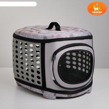 Складная сумка-переноска большая, материал eva, 42,5 х 37,5 х 29,5 см, сер