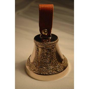 Колокольчик из бронзы с гербом москвы