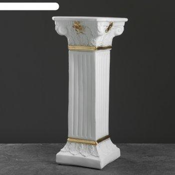 Колонна античная, бело-золотой 65х27см