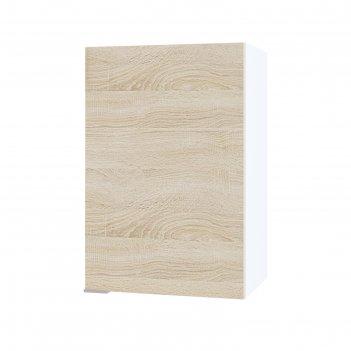 Шкаф с полками, 400 x 300 x 600 мм, цвет белый / дуб сонома