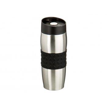 Термокружка 400 мл с силиконовой вставкой кофе