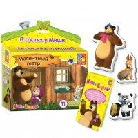 Магнитный театр маша и медведь в гостях у миши