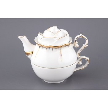 Чайный набор на 1 персону 3 пр. - эгоист цветочна...