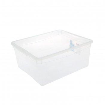 Ящик для хранения универсальный 18 л кристалл