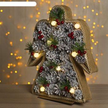 Фигура дерев ангел шишки 30х5х38 см (3xaa не в компл.) 8 led, тепло-белый