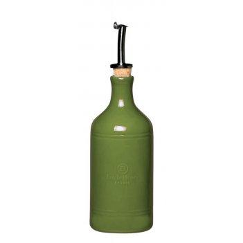 Бутылка для масла и уксуса 7,5 см, 0,45 л, emile henry цвет: лавровый лист