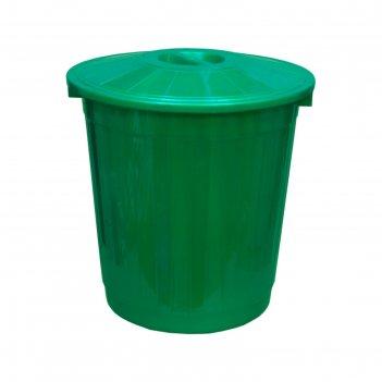 Бак с крышкой 50л зеленый