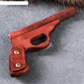 Сувенир деревянный пистолет полицейский, 25 см, массив бука