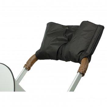 Муфта для рук на коляску флисовая (на липучке), цвет черный мкф08-001