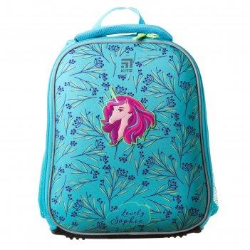 Рюкзак каркасный kite 555, 35 х 26 х 13.5, для девочки, lovely sophie, бир